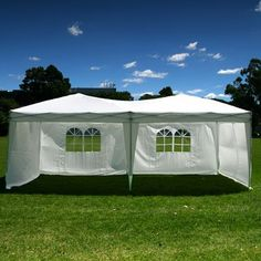 Palm Springs 10 x 20 Pop-up WHITE Canopy w/ 6 Side Walls EZ to set up.    http://landscapeandlighting.net