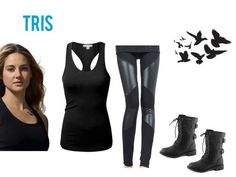 tris prior from divergent Divergent Costume, Divergent Outfits, Fandom Outfits, Divergent Cosplay, Dauntless Clothes, Dauntless Outfit, Looks Style, My Style, Costumes