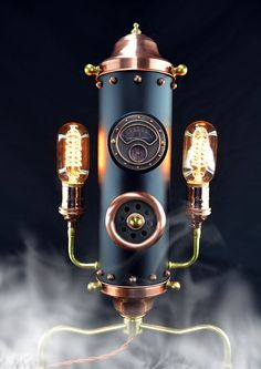 Steampunk Steam Whistle II Table Light (with Edison bulbs) Steampunk by Timberson #TopbulbEdison