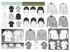 blank tshir template vector