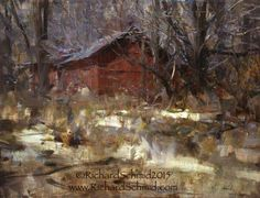 CONNECTICUT SPRING, 20x26 oil by Richard Schmid