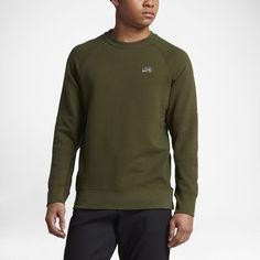 Nike SB Everett Crew Men's Sweatshirt Size Medium (Olive) - Clearance Sale