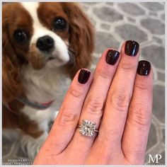 Girls best friend and mans best friend. Featuring our DE Solitaire in platinum with a carat cushion cut diamond. Mans Best Friend, Girls Best Friend, Solitaire Setting, Downtown New York, Unique Diamond Engagement Rings, Cushion Cut Diamonds, Custom Jewelry, Diamond Jewelry, Wedding Bands
