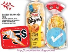 Coupons et Circulaires: WOW *** 0,50$ BAGEL POM ***
