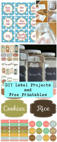 The best DIY projects & DIY ideas and tutorials: sewing, paper craft, DIY. Diy Crafts Ideas DIY Label Projects and Free Printables Printable Labels, Free Printables, Labels Free, Craft Projects, Projects To Try, Etiquette Vintage, Diy Rangement, Diy And Crafts, Paper Crafts