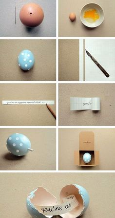 Click Pic for 40 DIY Valentine Gift Ideas for Boyfriend & Husbands - Egg Message in a Box