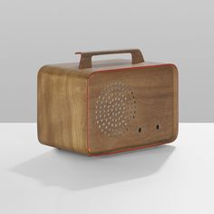 1946 Charles Eames Prototype Radio Enclosure | Evans Products | USA Walnut Plywood with Lacquered Details This exceptional radio enclosure design is unique. It was never put into production. Carl Benkert, an employee of Detrola, acquired the...