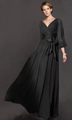 Elegant Long Maxi Womens Dress Solid Color High Waist