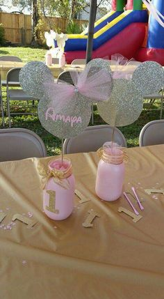 Pink Gold Center pieces