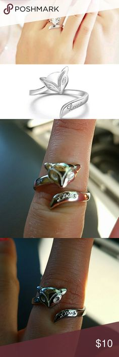 New cute plated fox ring New cute plated fox adjustable ring Jewelry Rings