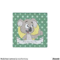 Koala bear cartoon stone magnet