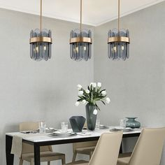 Modern LED Glass Pendant Light Bedroom Living Room Lighting Contemporary Pendant Lights, Modern Pendant Light, Glass Pendant Light, Glass Pendants, Pendant Lighting Bedroom, Chandelier Pendant Lights, Living Room Lighting, Fitted Bedrooms, Made To Measure Curtains