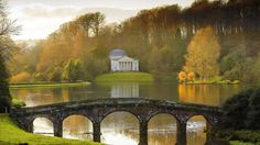Stourhead - our 18th-century landscaped garden - and one of its enchanting temples featured in the 2005 production of Pride and Prejudice. The Temple of Apollo, set above the tranquil lake, was used as the location for Mr Darcy's first and futile proposal to Lizzie. Afterwards an offended Lizzie makes her exit across the Palladian Bridge.