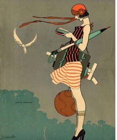 Pin ni sam sa graphic design art deco illustration, art at art deco f Art And Illustration, Old Illustrations, Fashion Illustrations, Posters Vintage, Retro Poster, Art Deco Posters, Vintage Art, Art Deco Artwork, Vintage Style