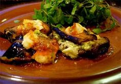Eggplant with Goat Cheese and Pesto!