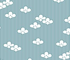 Cloudflowers fabric by siya on Spoonflower - custom fabric