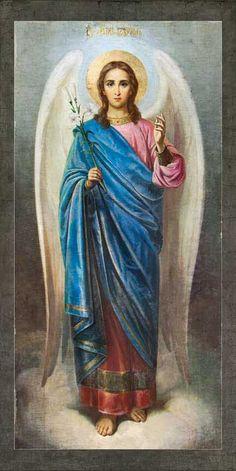 Archangel Gabriel, Archangel Michael, Angel 444, Saint Gabriel, Beautiful Prayers, Biblical Art, Principles Of Art, Angel Pictures, Angels Among Us