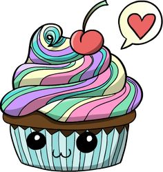 Rainbow Cupcake by HiddenRainbow on DeviantART - http://hiddenrainbow.deviantart.com/