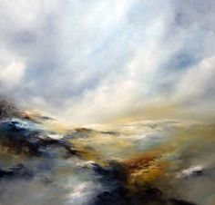 oil on canvas Description of artwork Wild and atmospheric piece with loose brush work in beautiful shades of muted colours  ORIGINAL SOLD
