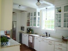 Image result for lovely traditional white galley kitchen