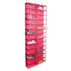 Tune Up Clear PVC Over-the-door 26-pocket Shoe Organizer, Washable Oxford Shoe Rack, Hanging Shoe Storage Bag (Hot Pink) Tune Up http://www.amazon.com/dp/B01AYW6RE6/ref=cm_sw_r_pi_dp_SOWbxb0B5M3SS