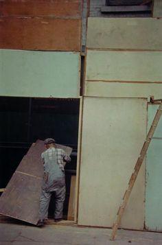 SAUL LEITER Mondrian Worker, 1954