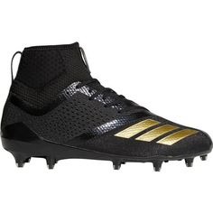 64e62f6da68b Adidas Men's Adizero 5-Star 7.0 Football Cleats (Black/Gold, Size 10.5