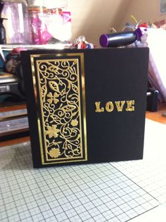 Tattered Lace panel love card
