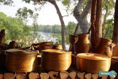 Capim Dourado no Acampamento da Korubo Jalapao