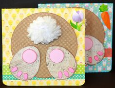 All three of my unique Easter Cards! Bunny Butt, Cute Bunny Face, and Guilty Bunny in one kit! Bunny Face, Cute Bunny, Cutting Files, Etsy Store, Paper Crafts, Easter, Scrapbook, Kit, Create