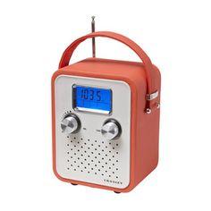 Portable Music Box Alarm Radio in Orange