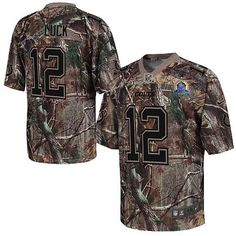NIKE COLTS #12 ANDREW LUCK CAMO WITH HALL OF FAME 50TH PATCH MENS STITCHED NFL REALTREE ELITE JERSEY