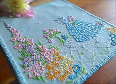 Your place to buy and sell all things handmade Embroidery Motifs, Hand Embroidery Designs, Vintage Sewing Rooms, Sewing Crafts, Sewing Projects, Table Clothes, Vintage Tea, Small Businesses, Kitsch