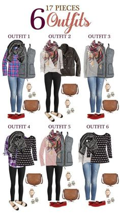 Five Day Getaway Fall Packing List: 17 pieces, 6 outfits . Five Day Getaway Fall Packing List: 17 Cruise Outfits, College Outfits, Mode Outfits, Casual Outfits, Fashion Outfits, Womens Fashion, Travel Outfits, Packing Outfits, Fashion Hacks