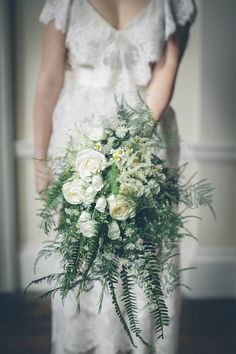 wild bouquet with soft ferns