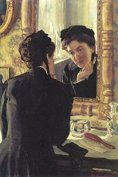 She Leaned Forward And Gazed Anxiously At The Reflection Which Confronted Her - Ethel Pennewill Brown Leach – Mirror Art, Mirror Image, Mirrors, Used Books, My Books, American Literature, Portraits, Through The Looking Glass, Look In The Mirror