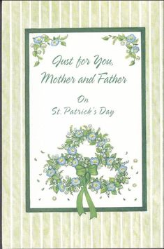 Pin by pat tarleton on cards 2017 christmas pinterest st patricks day greeting car just for you mother and father paramount m4hsunfo