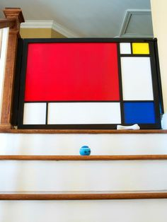 "Add stylish safety and separation to door openings, hallways or staircases with a child and baby gate inspired by iconic artist Piet Mondrian. Mod not your style? Take this tip from Siminovich: ""Oh, baby gates! The necessary evil! I do like to hack items with Plexiglass for protection — looks better than that meshy plastic."""