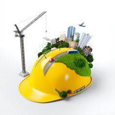 Find City On Construction Helmet Unusual Construction stock images in HD and millions of other royalty-free stock photos, illustrations and vectors in the Shutterstock collection. Thousands of new, high-quality pictures added every day. Ads Creative, Creative Posters, Creative Advertising, Civil Engineering Logo, Inmobiliaria Ideas, Engineers Day, Social Media Design, Presentation Design, Illustration