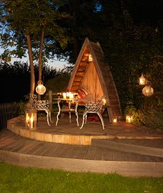 Dinner by candle light - 2011 The Woodhouse, Outdoor Furniture Sets, Outdoor Decor, Build Your Own, Relax, House Design, Fire, Patio, Candles