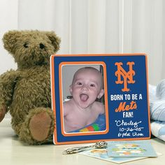 MEMORY Company Born to be a New York Mets Fan Photo Frame