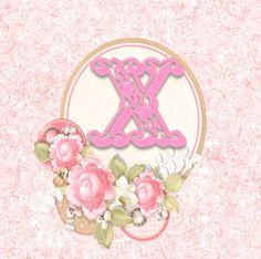Delicate Alphabet with Roses. Alfabeto delicado con Rosas.