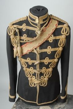 Victorian 15th Hussars Officer's Full Dress Ceremonial Tunic, Special Pattern Lace