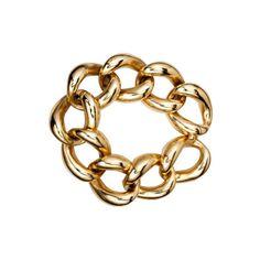 Unsigned Chunky Link Bracelet found on Polyvore