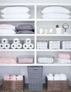 Proud homeowners around Australia showed off snaps of their immaculately organised linen c...