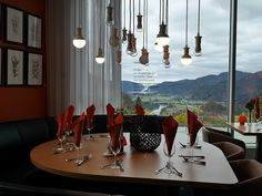 Utsikten Hotell, a beautiful hotel situated on top the of a mountain with a stunning view over the village Kvinesdal in Norway. Golf park and art centre. Kristiansand, Beautiful Hotels, Stunning View, Norway, Centre, Mountain, Golf, Park, Parks