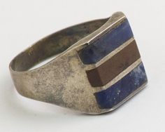 Vintage Ring Red Jasper and Lapis Lazuli in by CuffsandClips, $52.20