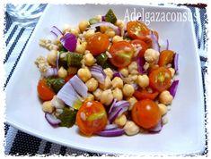 Recetas Light - Adelgazaconsusi: Ensalada de garbanzos y arroz multicolor