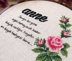 Mesajlı kaneviçe işleme hediye fikri el emeği anneler için | Kadınca Fikir - Kadınca Fikir
