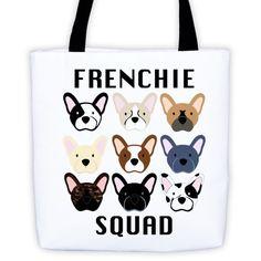 Frenchie Squad - 100% Cotton Bull Denim Tote bag